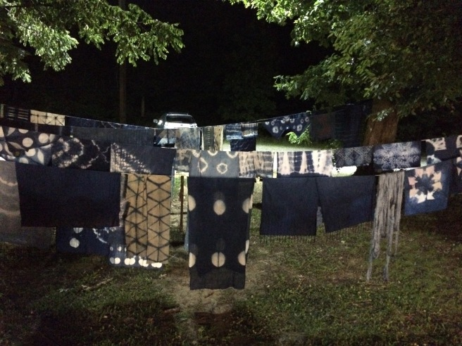 Indigo dyeing into the night….
