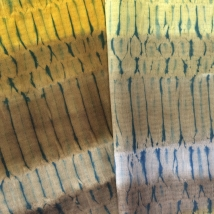 Mordant printing, dyed with osage and weld