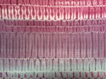 mordant printing, dyed with cochineal