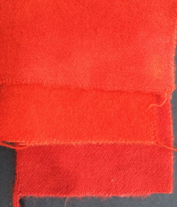 Wool, dyed in madder