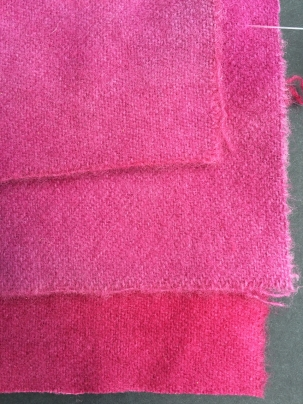 Wool, dyed in cochineal