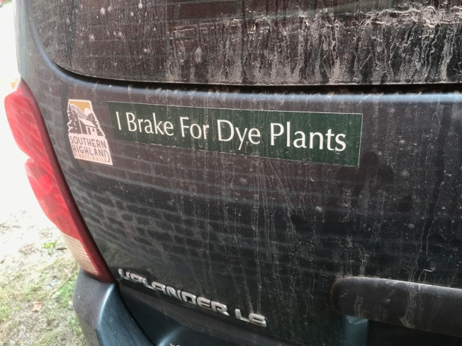 Bumper sticker on Dede's van