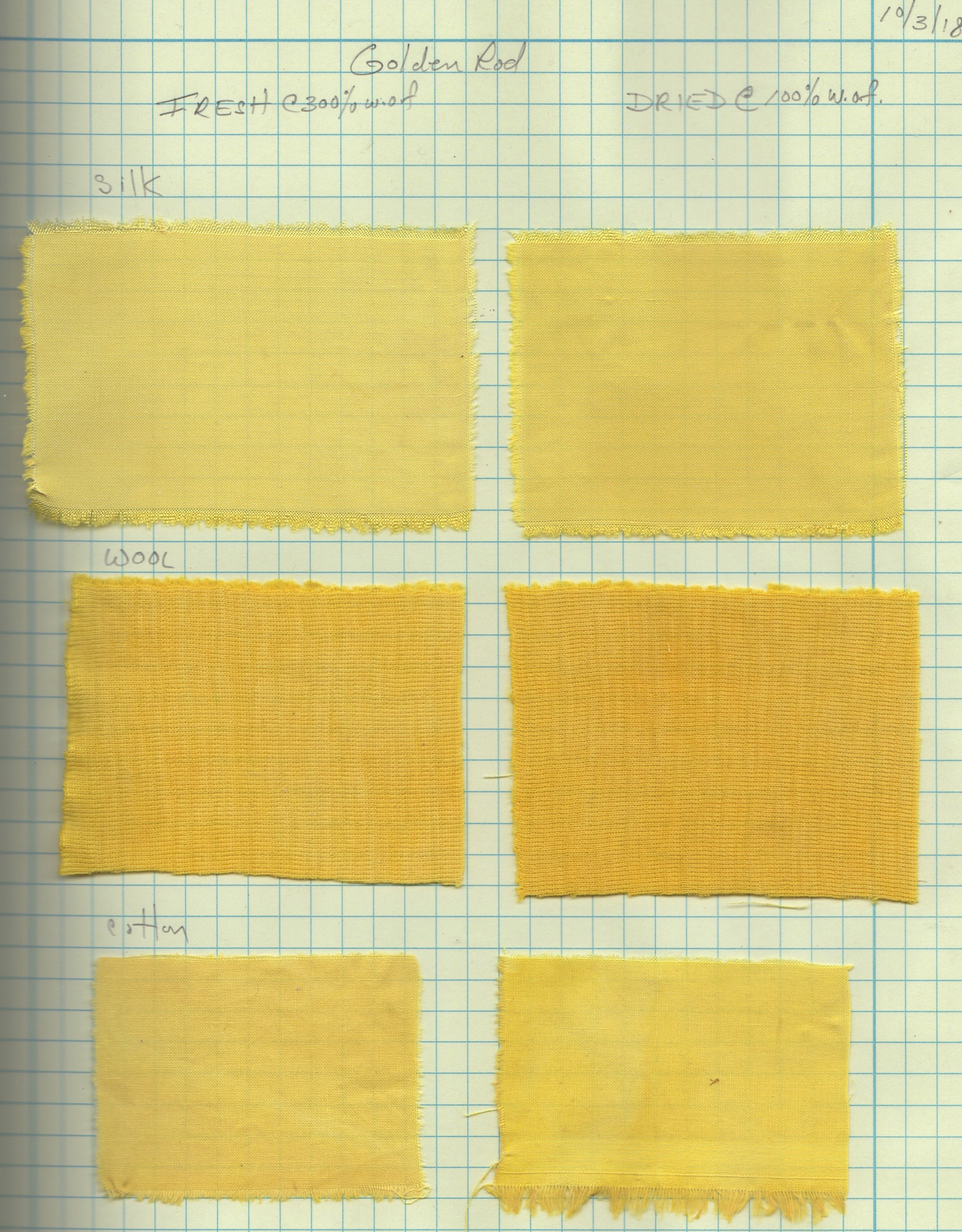 goldenrod samples